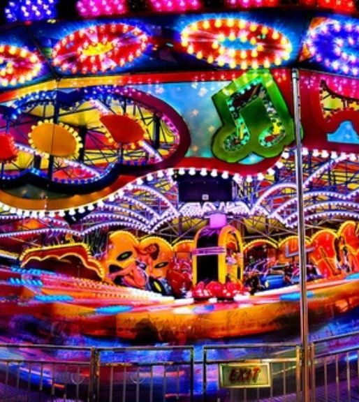 extremely colourful bright lights, inspirational for colour theme