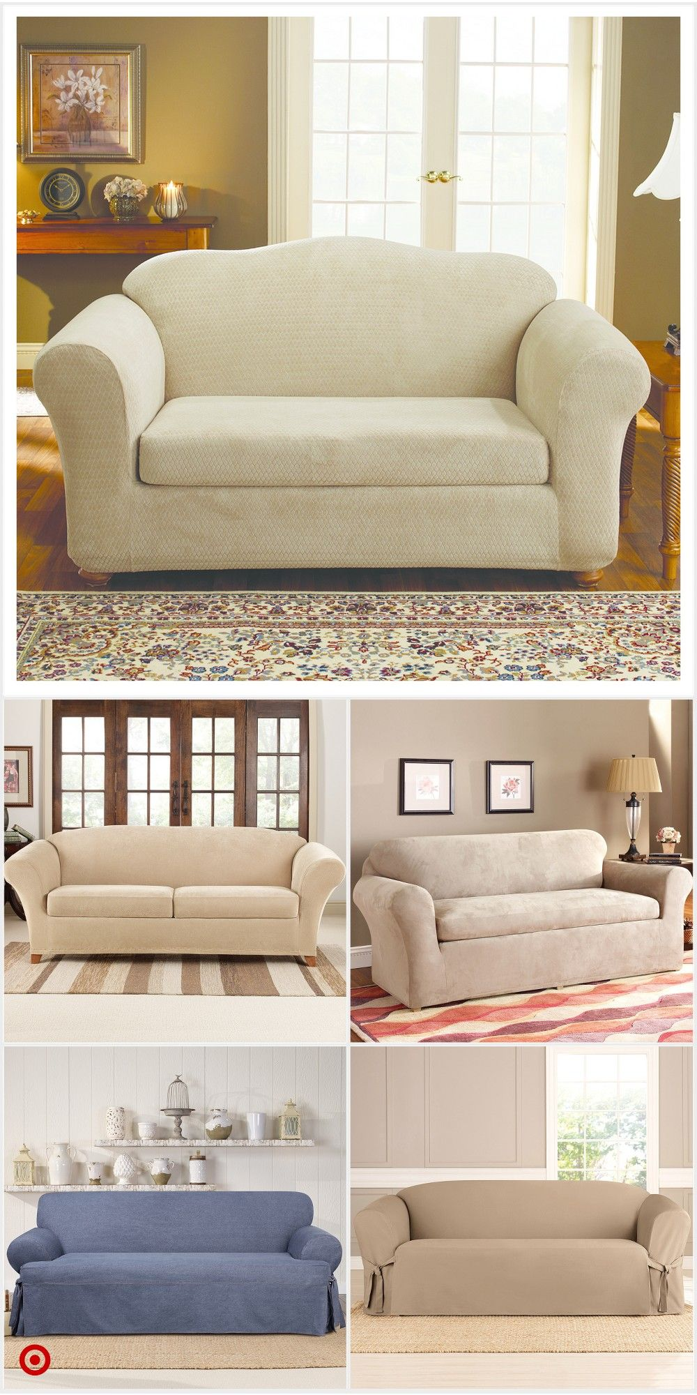 Shop Target For Sofa Slipcover You Will Love At Great Low Prices Free Shipping On Order Slipcovered Sofa Pallet Furniture Living Room Dining Room Chair Covers