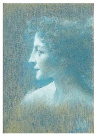 Le profil bleu by Lucien Lévy-Dhurmer