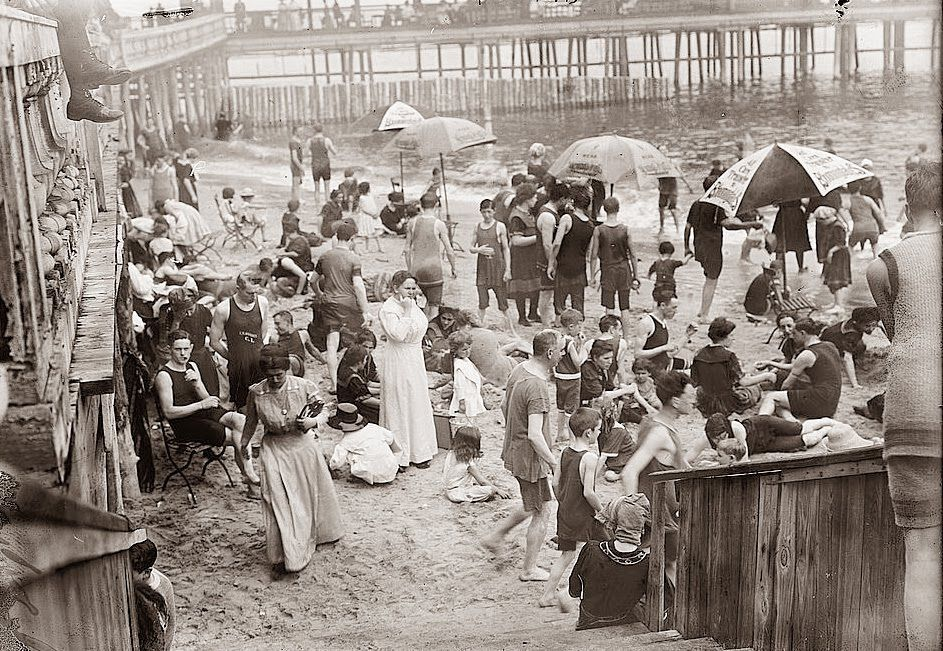Swimmers at Coney Island 1899