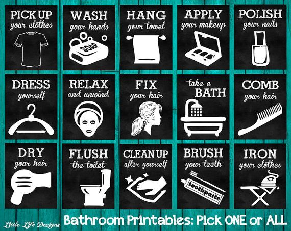 Bathroom Signs Brush Your Teeth brush your teeth, comb your hair, don't forget your underwear
