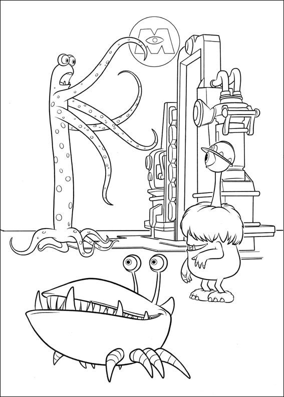 Monsters Inc. - University Coloring Pages 3 | Coloring pages for ...