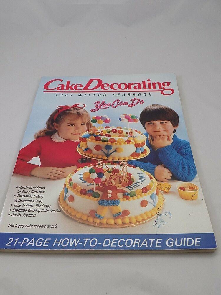 1987 Wilton Yearbook Cake Decorating craft pattern 21 page ...