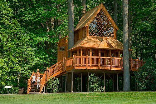 Wood house Casas del árbol Pinterest Puente colgante, El arbol - casas en arboles