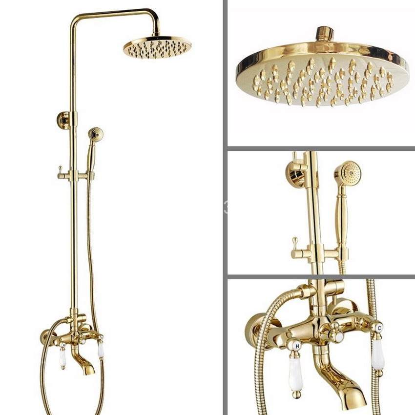138.59$ Watch now - Bathroom Rainfall Shower Set faucet 8 Luxury ...