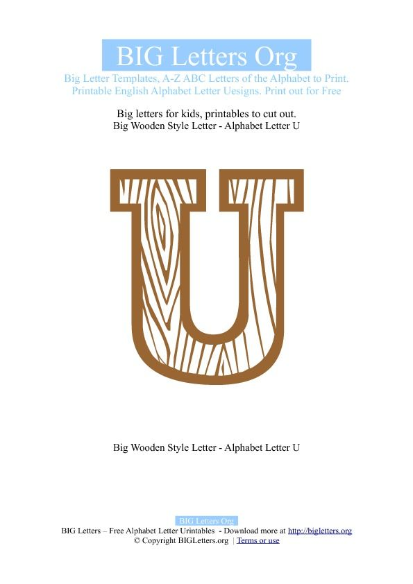 letter U activities and crafts Printable Big Letter U Templates - letters templates to print
