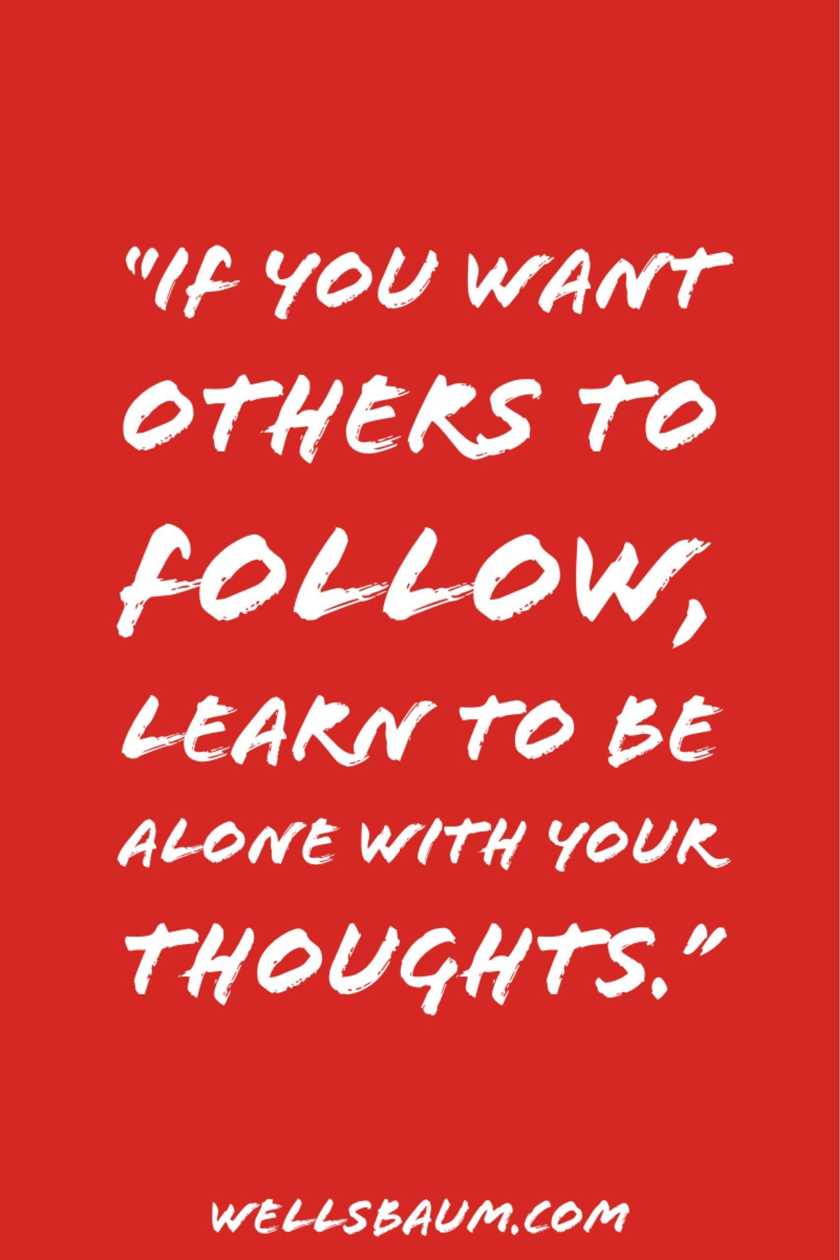 solitude and leadership Motifs