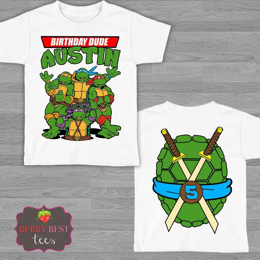 Blue Tmnt Teenage Mutant Ninja Turtles Birthday Shirt Teenage Mutant Ninja Turtle Birthday Ninja Turtle Birthday Teenage Mutant Ninja Turtles Birthday Party