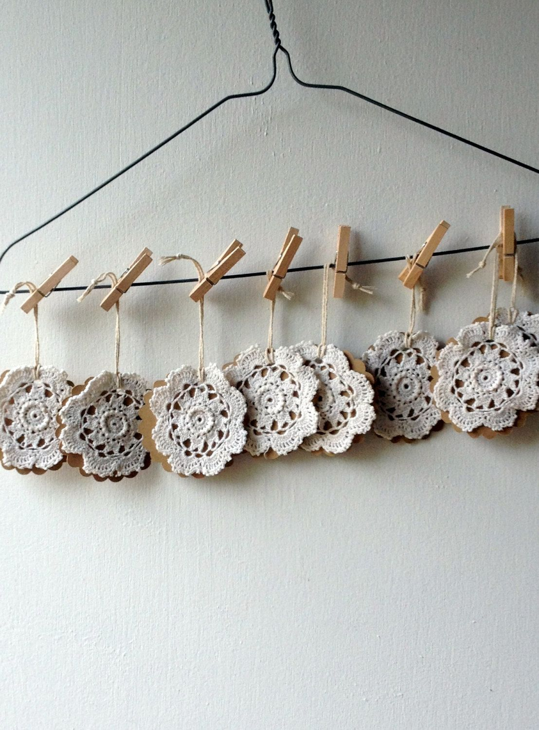 Gifts Tags with Vintage Doilies. $8.00, via Etsy.