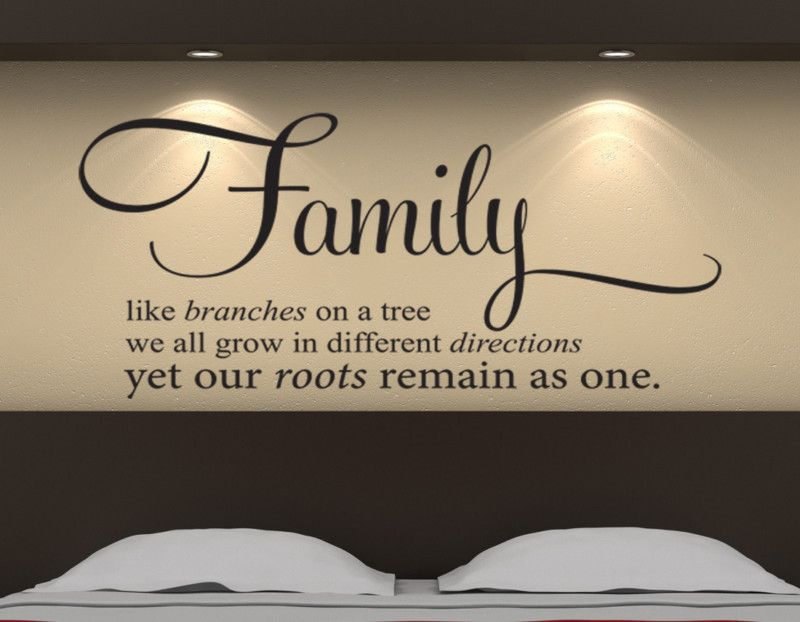 Family Tree Branch Roots Remain As e Wall Art Sticker