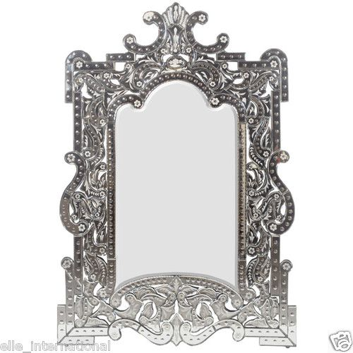 Latest Venetian Wall Mirror Tall Etched Glass Vanity Art Deco Decor New Style - venetian glass mirror Luxury