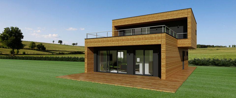 maison ossature bois booa room3 ext rieur architecture pinterest architecture. Black Bedroom Furniture Sets. Home Design Ideas