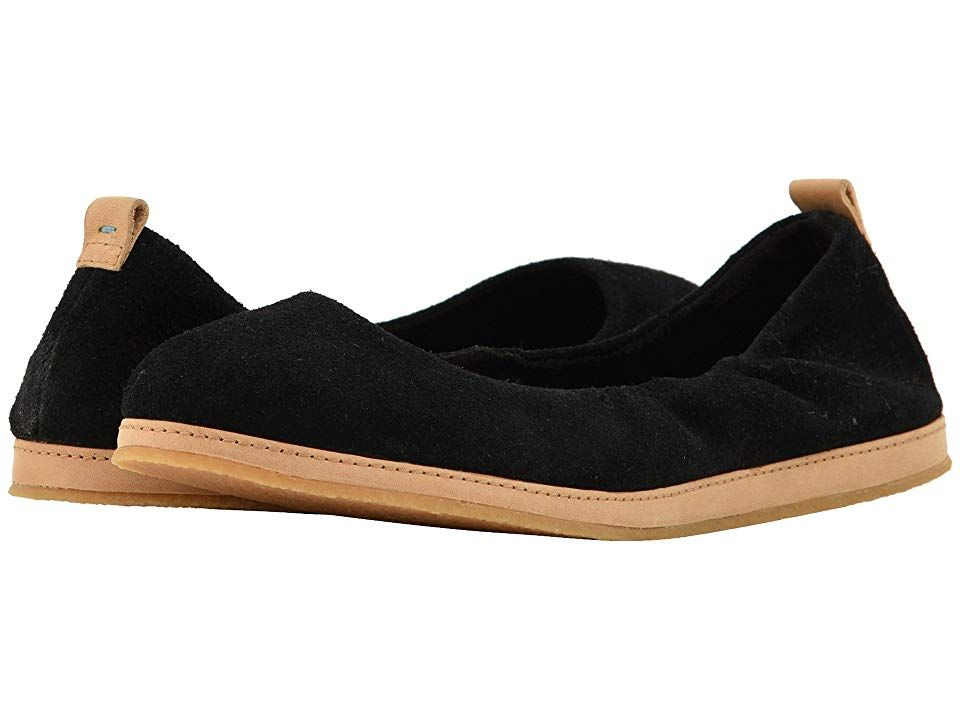TOMS Olivia Black Suede Womens Flat Shoes With every pair of shoes you purchase TOMS will give a new pair of shoes to a child in need One for One Longlasting style and ea...