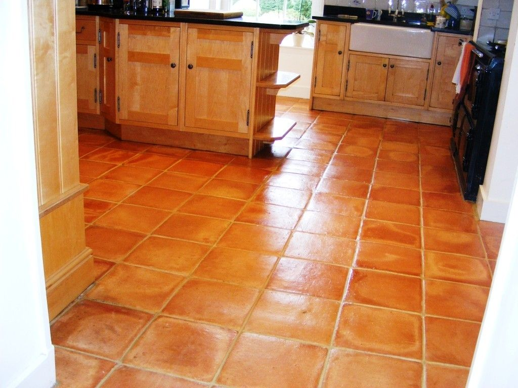 Large terracotta kitchen floor tiles httpnextsoft21 new kitchen floor retile terracotta ceramic to replace the light tan tile dailygadgetfo Choice Image