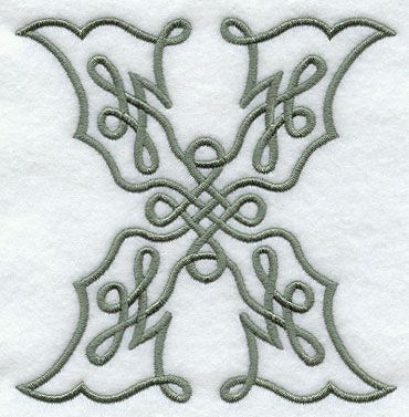 celtic knotwork letter x 5 inch design f9350 from www emblibrary com