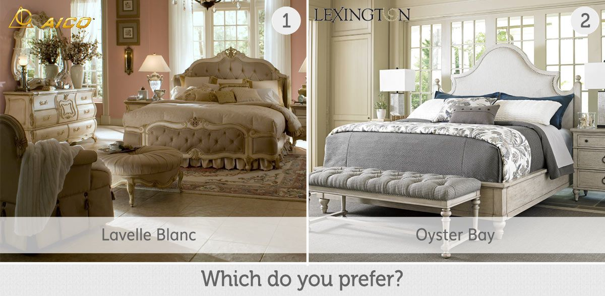 Which bedroom collection do you like more Lavelle Blanc from AICO