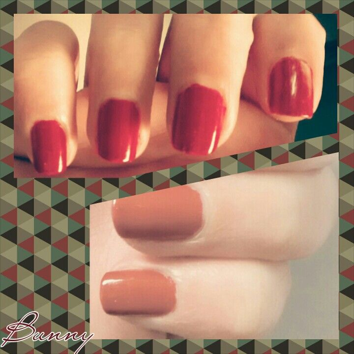 Red nails 'Bunny'