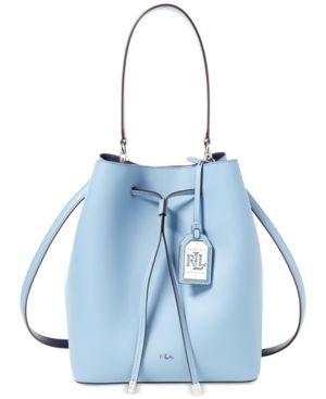 Lauren Ralph Lauren Dryden Debby Drawstring Bag - Blue Mist Marine ... cbcb5b3a9e349
