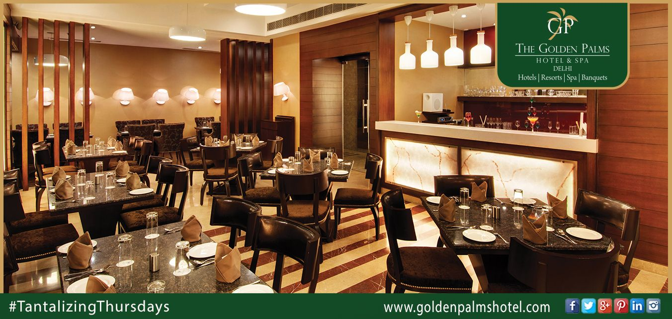 Complementing exquisite cuisine with wide selection of fine wines, Golden Palms Hotel & Spa, Delhi, is the perfect place to unwind. Visit: www.goldenpalmshotel.com for more details #TantalizingThursdays