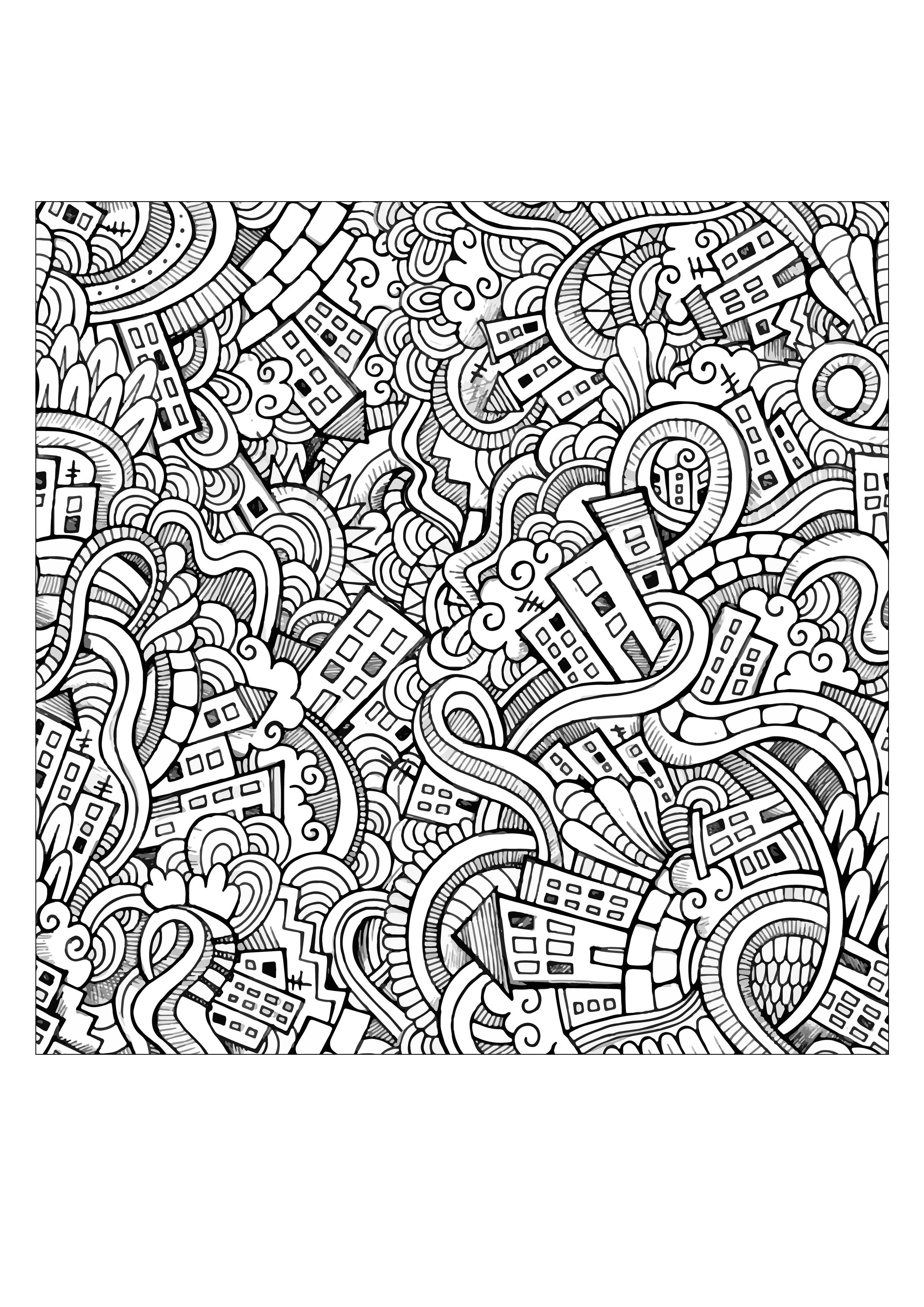 Free coloring page coloring-adult-incredible-city-doodle-by-Olga ...