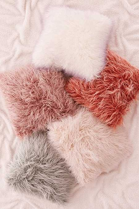 Marisa Tipped Faux Fur Pillow | Faux fur pillow, Pillows, Fluffy ...