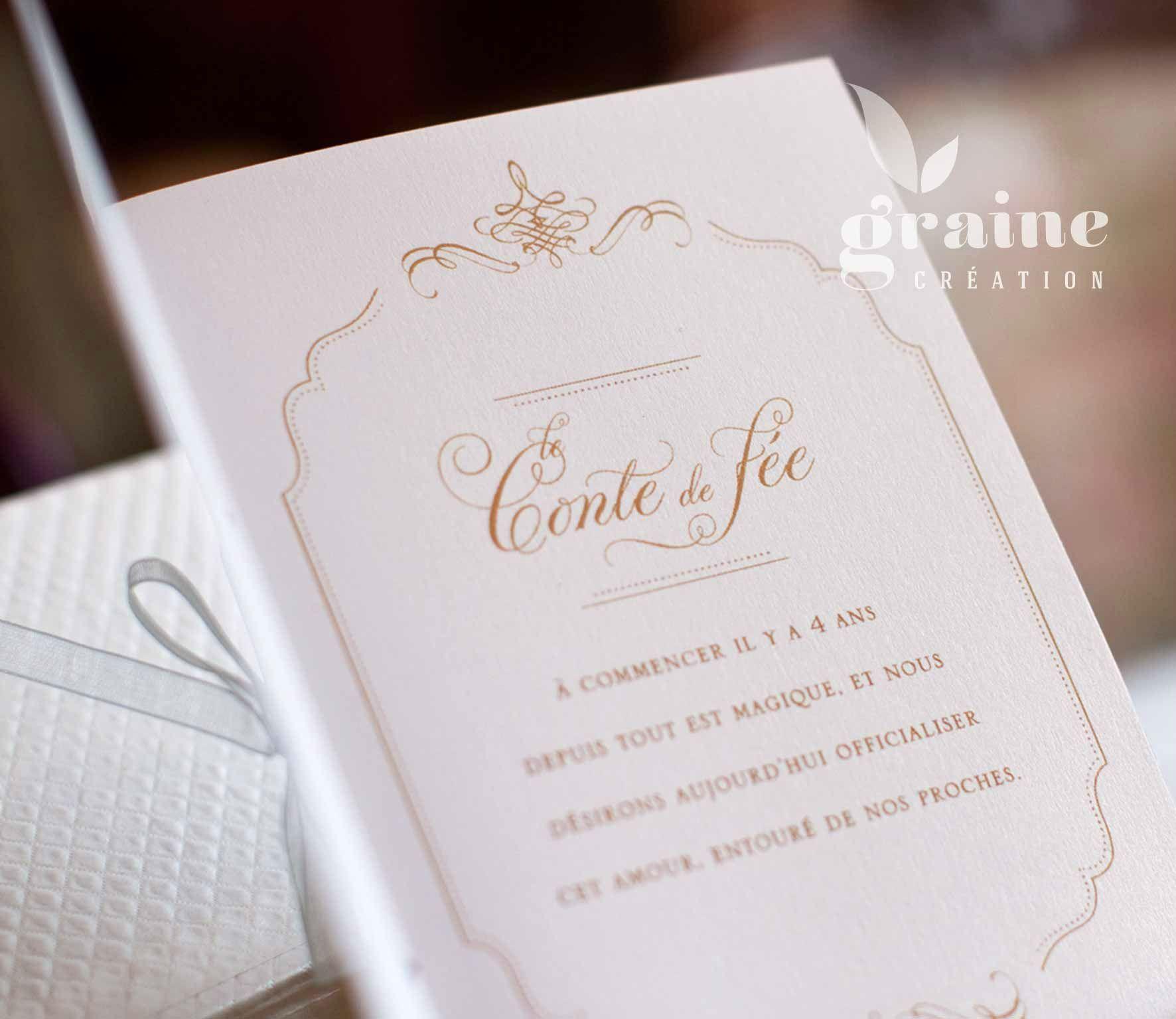 Faire Part Mariage Conte De Fee Le Blog Officiel De Graine
