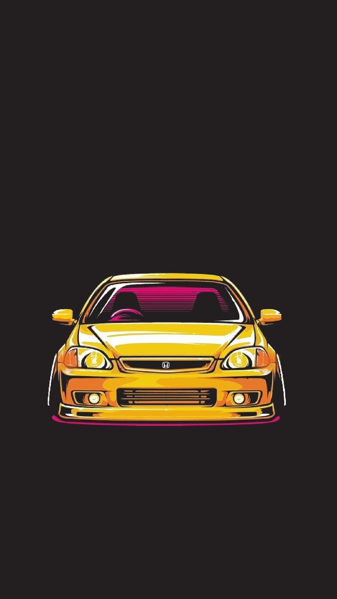 Pin By Marlen Oe On Avto Art Civic Car Honda Civic Jdm Wallpaper