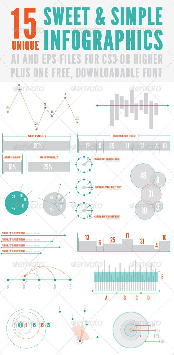 Sweet and Simple Infographics | Infographics and Infographic