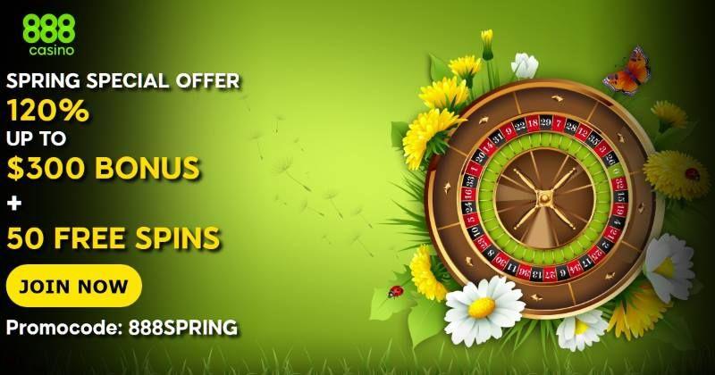 888 Casino Special Spring Bonus Offer Plus 50 Free Spins Casino