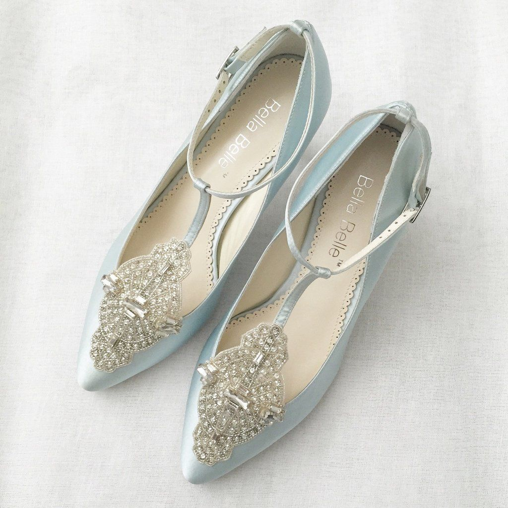 Annalise Ii In Icy Blue Eternal Bridal Collection T Strap