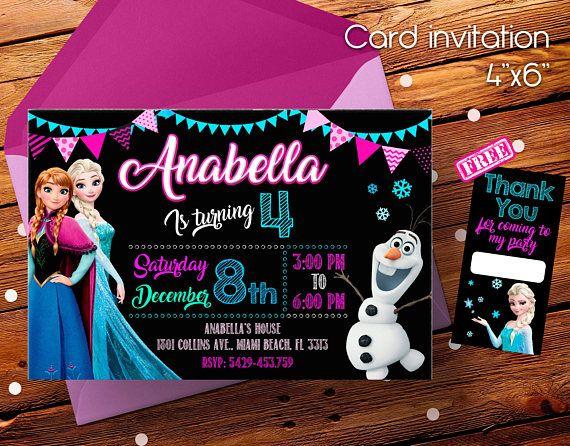 Frozen Invitation Invitacion De Frozen Elsa Anna Invitaciones