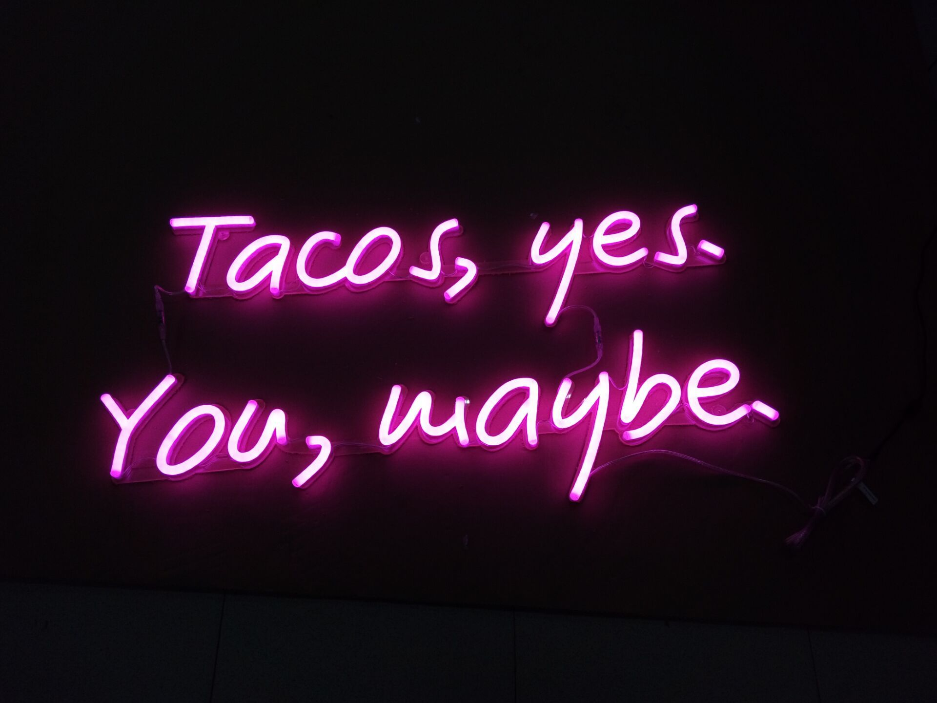 Custom Neon Signs Cool Words Quotes