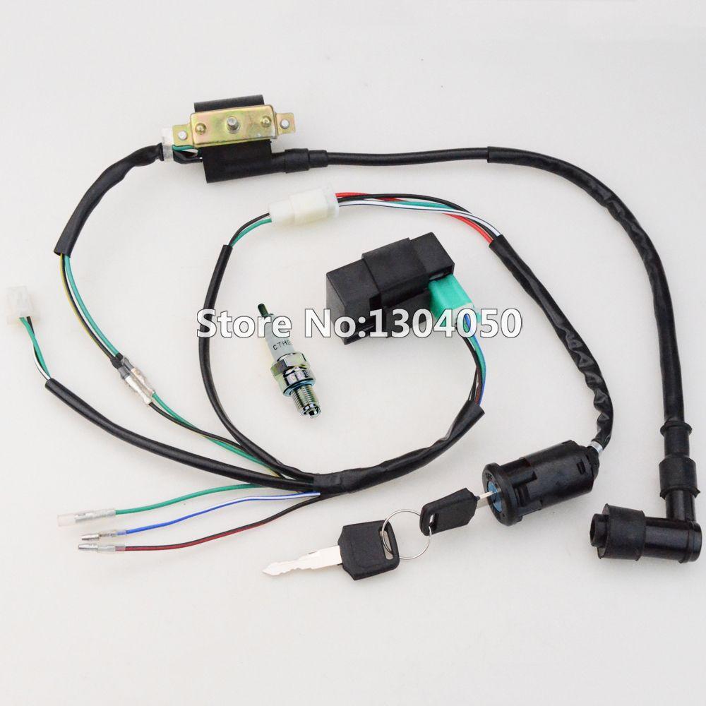 50cc 70cc 90cc 110cc 125CC CDI Ignition Coil NGK Spark Plug ... Ngk Motorcycle Spark Plug Wires on
