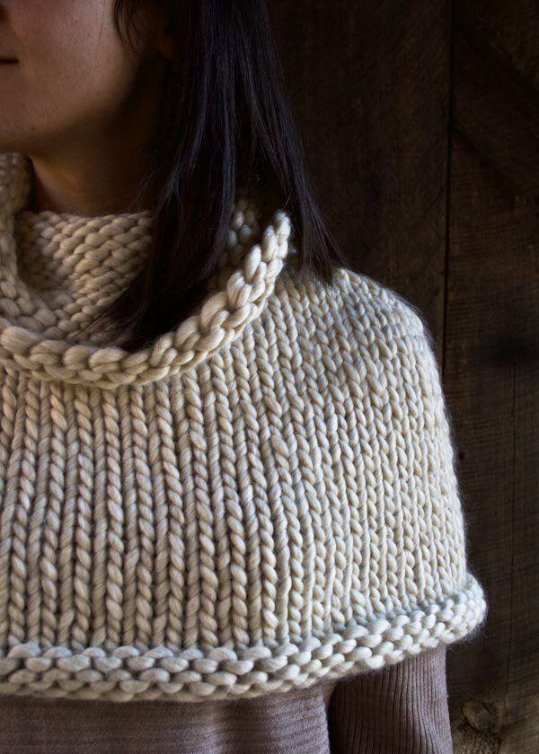 Mountain Capelet by Purl Soho. Free pattern | Machine Knitting ...