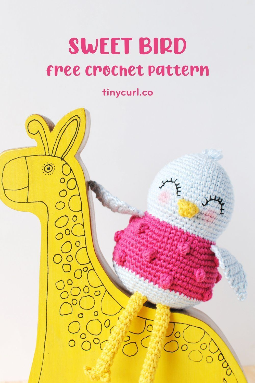 Bird Amigurumi Pattern Tiny Curl Amigurumi Pattern Sweet Bird Crochet Pattern Crochet Bird Pattern