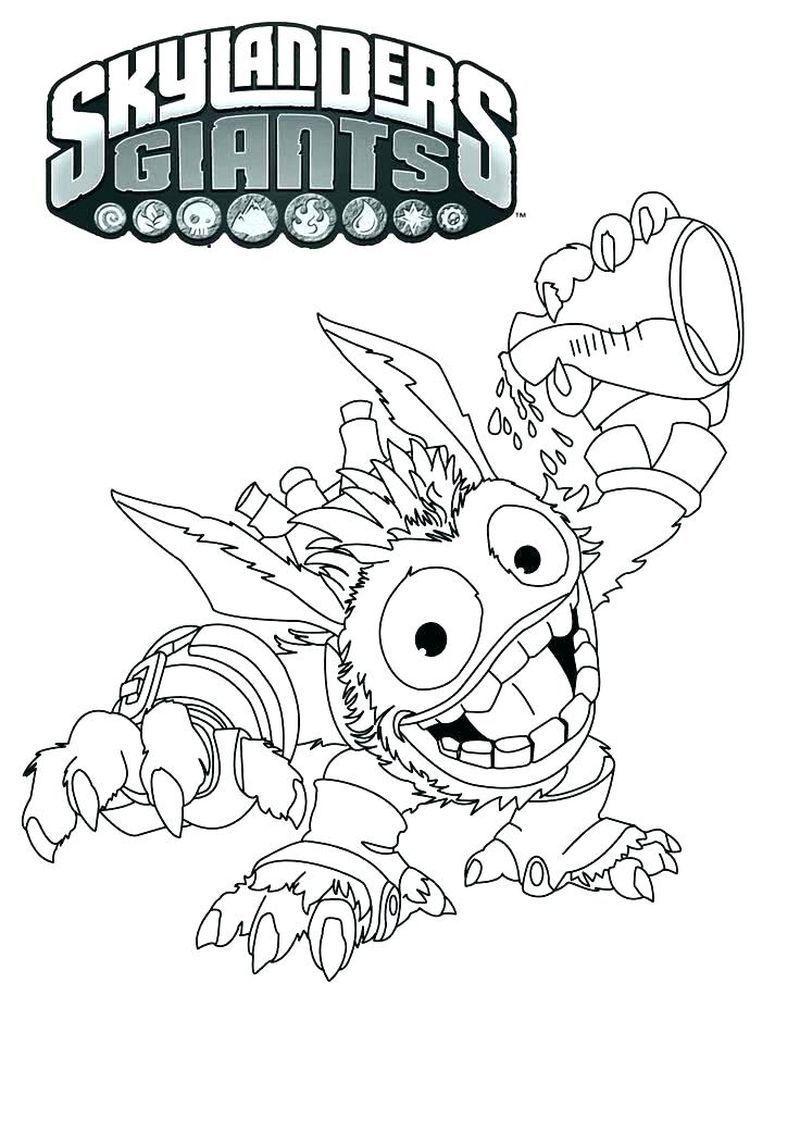 Wrecking Ball Skylanders Coloring Pages Di 2020