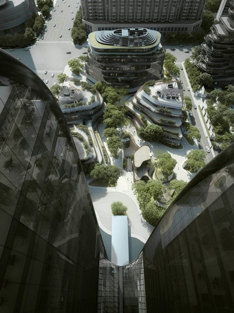 """Attention to aerial rooftop design is important as city architecture continues to climb. MAD Breaks Ground on Complex that Redefines Beijing's """"City Landscape"""""""