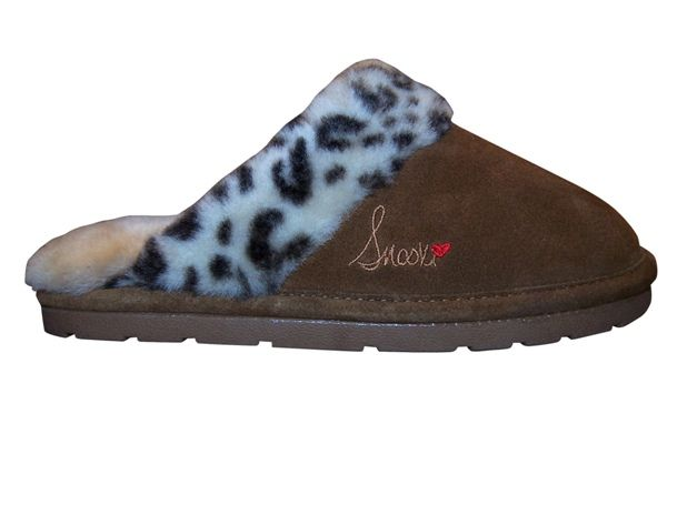0abfe32be25b Snooki Signature Leopard Sheepskin Scuff Slippers