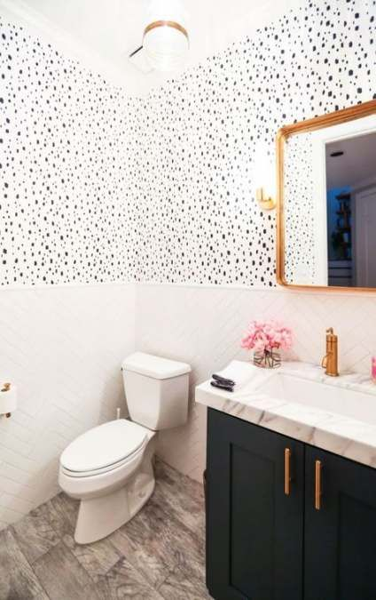 Best Bathroom Wallpaper Girls Ideas Small Bathroom Wallpaper Bathroom Wallpaper Small Bathroom