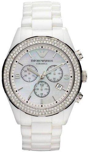 709c0c6ff9b best - Emporio Armani Ceramica Women s Watch All White Crystals Set  Chronogragh Bracelet Ar1456 GIORGIO ARMANI