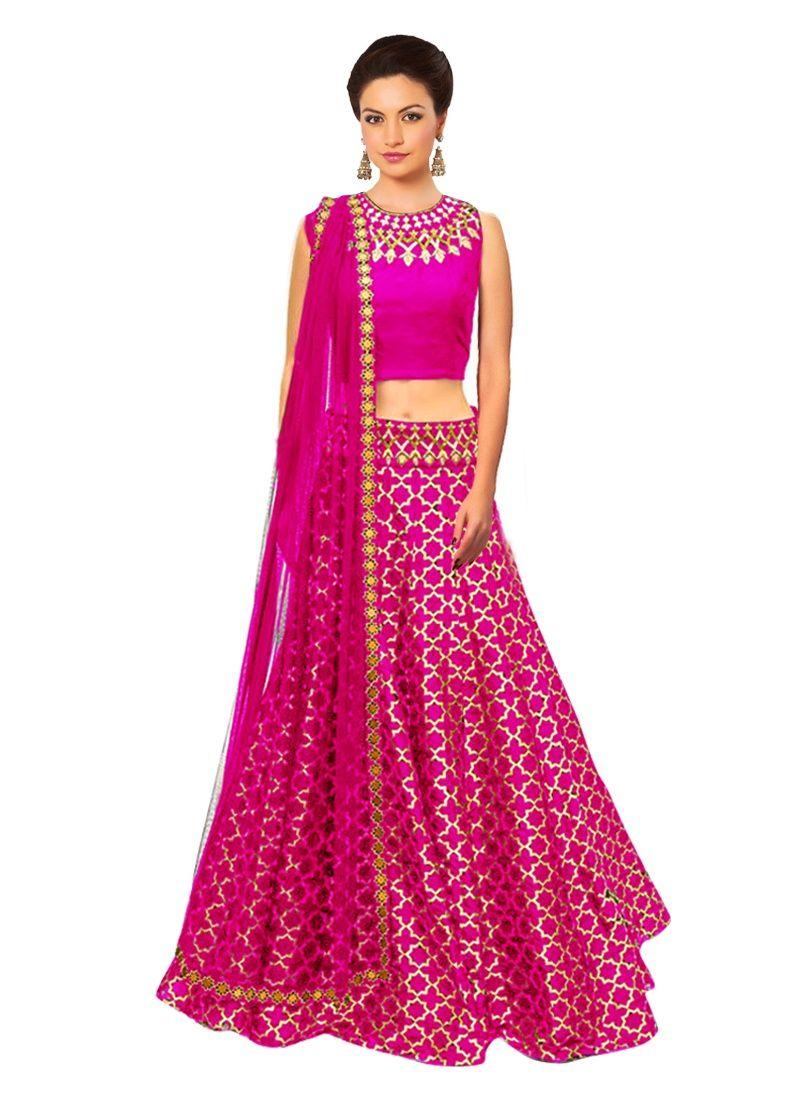 24552cf71b2 awesome Designer Jacquard Pink Lehenga Choli Size   Free Size Type   Semi  Stitched (can be customize small to XXL size)  designerlehengas  fashion ...