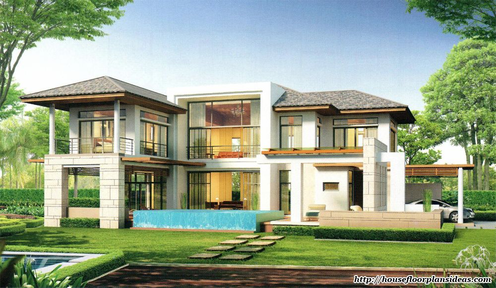 Modern house design new modern tropical style double for Modern tropical home designs