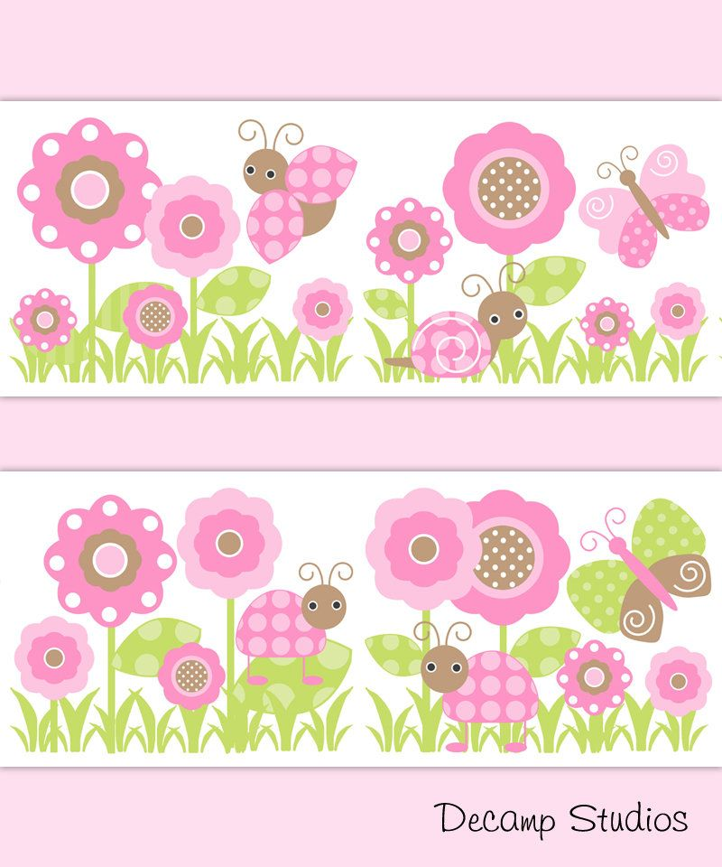 This Item Is Unavailable Etsy Floral Wallpaper Border Girl Nursery Wallpaper Decal Wall Art