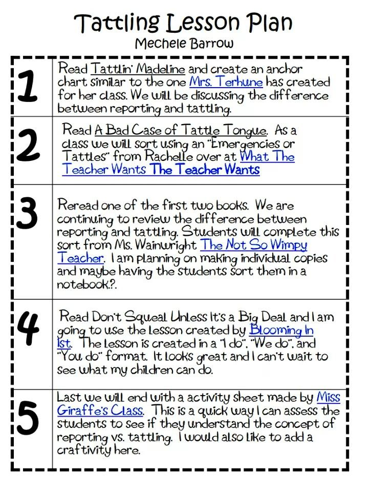 Tattling Lesson With Images Social Emotional Learning