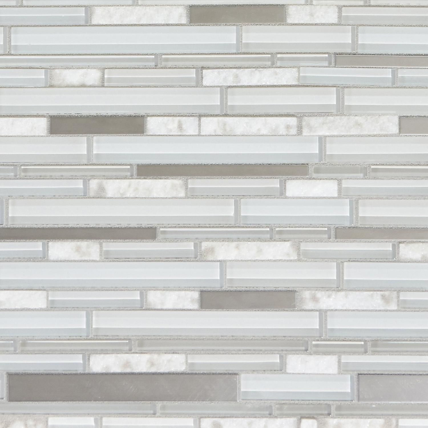 - Norwegian White Stone Linear Polished Glass Mosaic In 2020