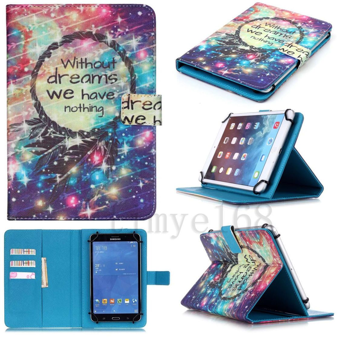 super popular 0e0c3 0eb97 Details about Universal PU Leather Stand Case Cover For Samsung ...