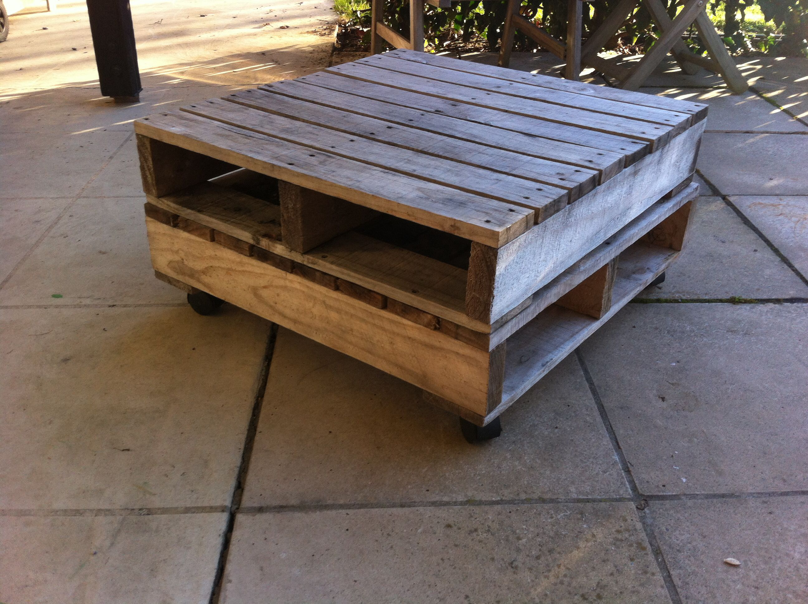 Pallet Outside Coffee Table On Wheels Coffee Table With