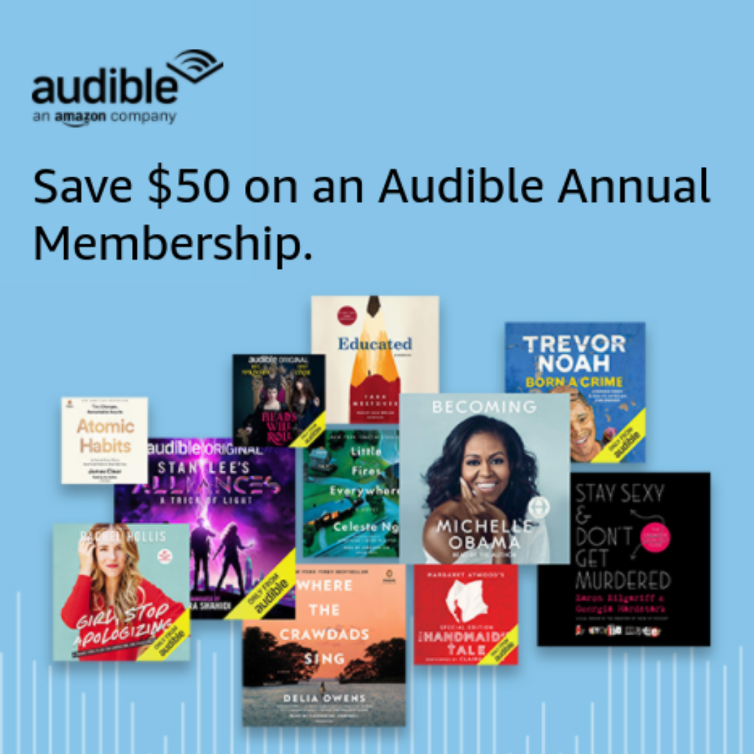 Save 50 Off Annual Audible Membership Get Free 10 Amazon Gift Card Swaggrabber Amazon Gift Cards Amazon Gifts Audiobooks
