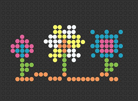 This is an image of Lively Printable Lite Brite Templates