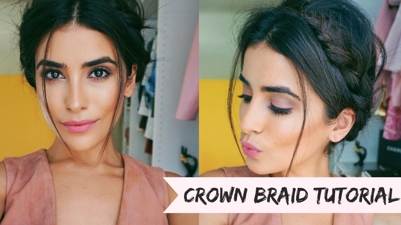 Crown Braid Hair Tutorial Easy Youtube With Images Braided